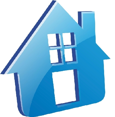 blue house graphic
